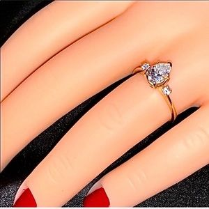 Real 14KT Gold 1CT + Pear Shaped CZ Ring 🍐